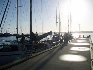 Vessels in Transit to Australian Wooden Boat Festival in Hobart