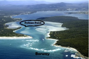 The St Helens barway and Pelican Point