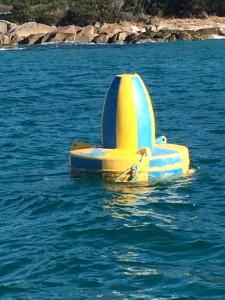 Navigation buoy on the sunken Anmaropa on  22nd July, 2016
